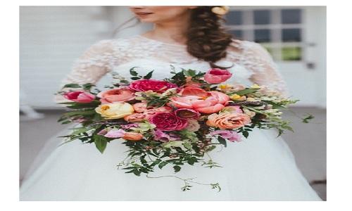 lush peony bouquet