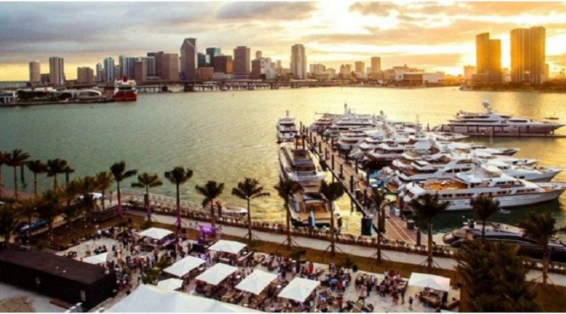 Yachts at the Miami Yacht Show