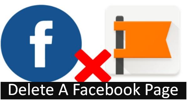 delete a facebook page.