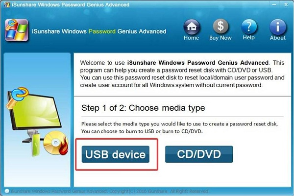 WinPassKey select-USB device